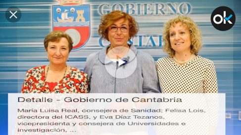 La directora del Instituto Cántabro de Servicios Sociales (ICASS), Felisa Lois (en el centro).