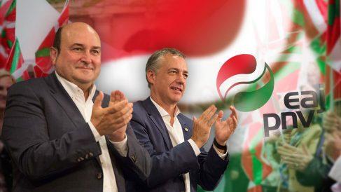 Andoni Ortuzar e Íñigo Urkullu. | Moción de censura Rajoy