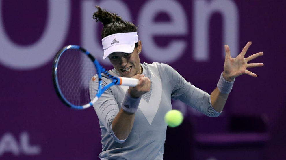 Garbiñe Muguruza cayó en la final de Doha contra Petra Kvitova. (AFP)