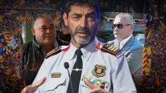 El mayor de los Mossos d'Esquadra Josep Lluís Trapero, entre los narcos Manuel Gutiérrez Carbajo y José Mestre.