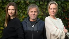 Renzo Rosso con las modelos Diana Gaertner y Claudia Wagner, fundadoras de Ubooker (Foto. Ubooker)