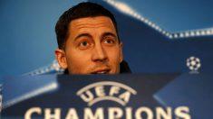Hazard durante una rueda de prensa. (AFP)
