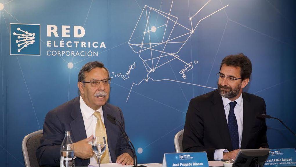 José Folgado y Juan Lasala, expresidente y exconsejero delegado, respectivamente, de REE (Foto. REE)
