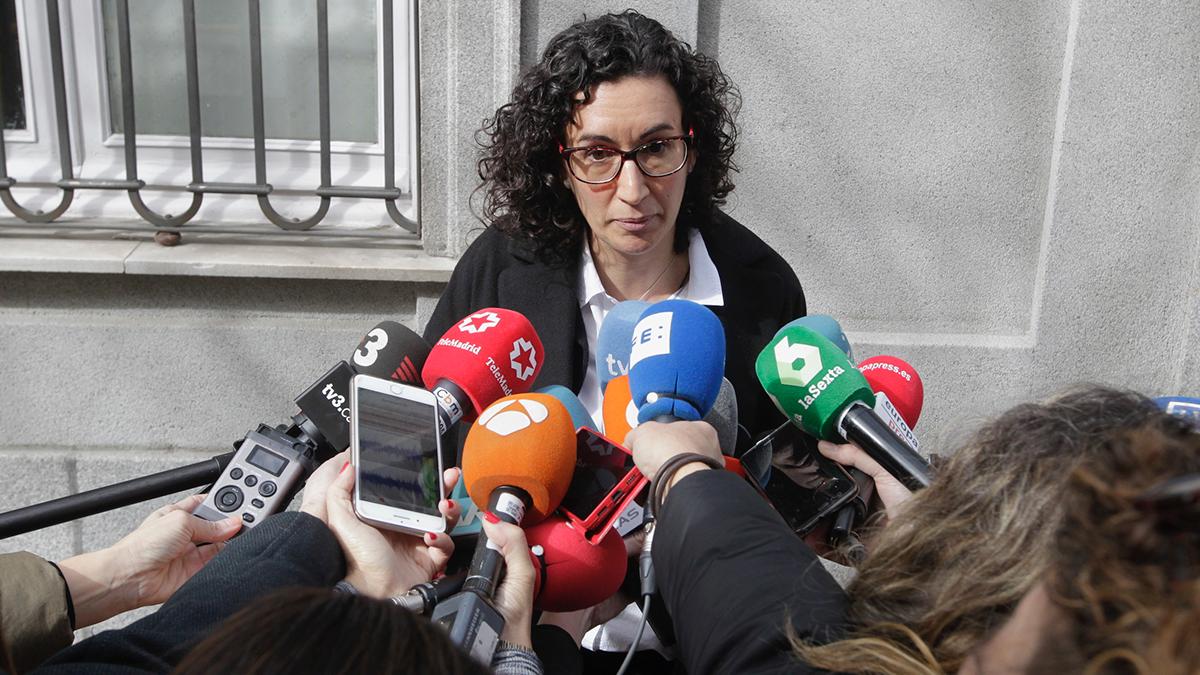 Marta Rovira, secretaria general de ERC, tras declarar en el Tribunal Supremo. (Foto: Francisco Toledo)