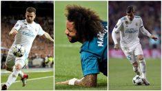 Nacho, Marcelo y Theo durante esta temporada. (Fotos: EFE y AFP)