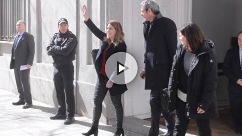 Marta Pascal, coordinadora general del PDeCAT, a su salida del Tribunal Supremo. (Foto: Francisco Toledo)