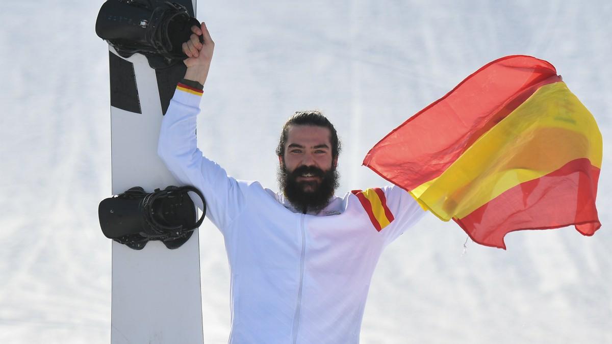 Regino Hernández, tras ganar el bronce en Pyeongchang. (AFP)