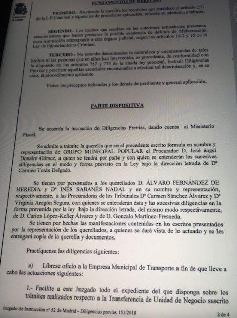 La juez admite a trámite la querella del PP por el 'caso BiciMad' y abre diligencias por malversación