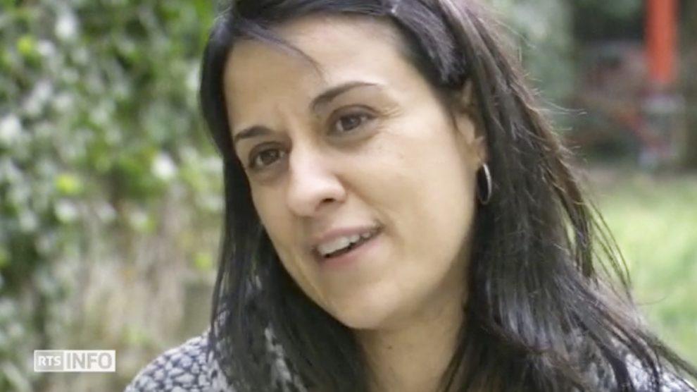 Anna Gabriel en la entrevista concedida a la RTS.