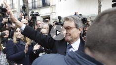 Artur Mas tras declarar en el Tribunal Supremo