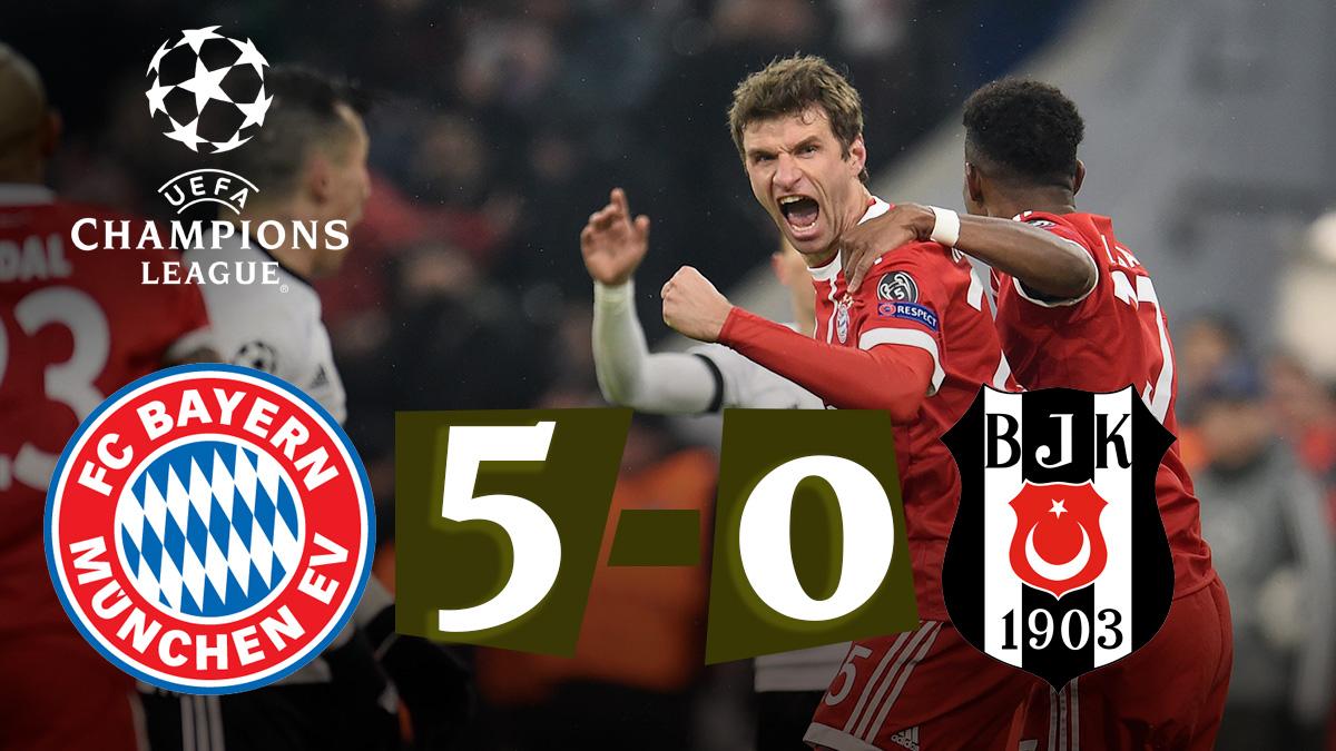 Bayern – Besiktas: Champions League.