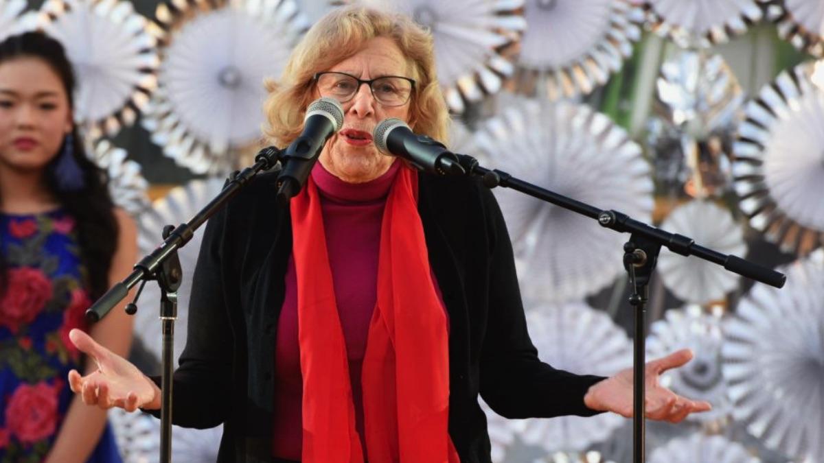 La alcaldesa presentando el Año Nuevo Chino 2018. (Foto: Madrid)