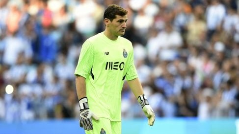Casillas, en un partido con el Oporto. (Getty)