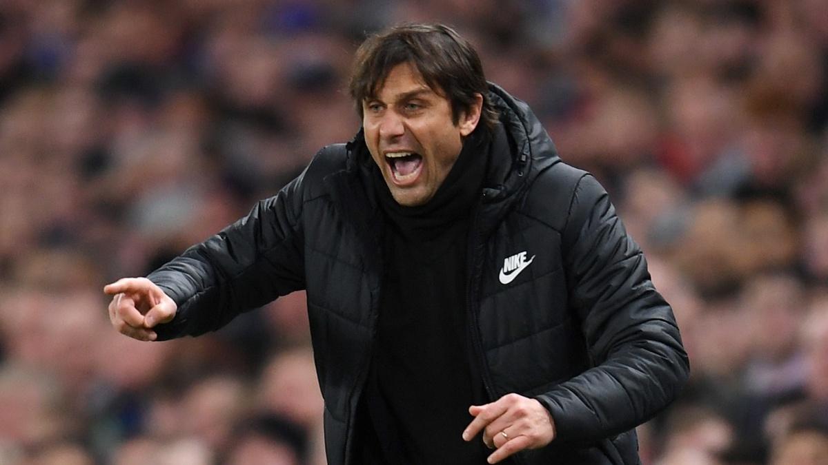 Antonio Conte, durante el Chelsea – Barcelona. (Getty)