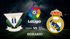 Consulta aquí donde y a qué hora ver el partido Leganés – Real Madrid.