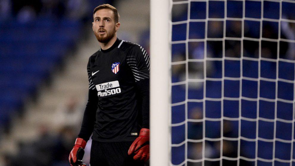 Jan Oblak, durante un partido con el Atlético de Madrid. (AFP)