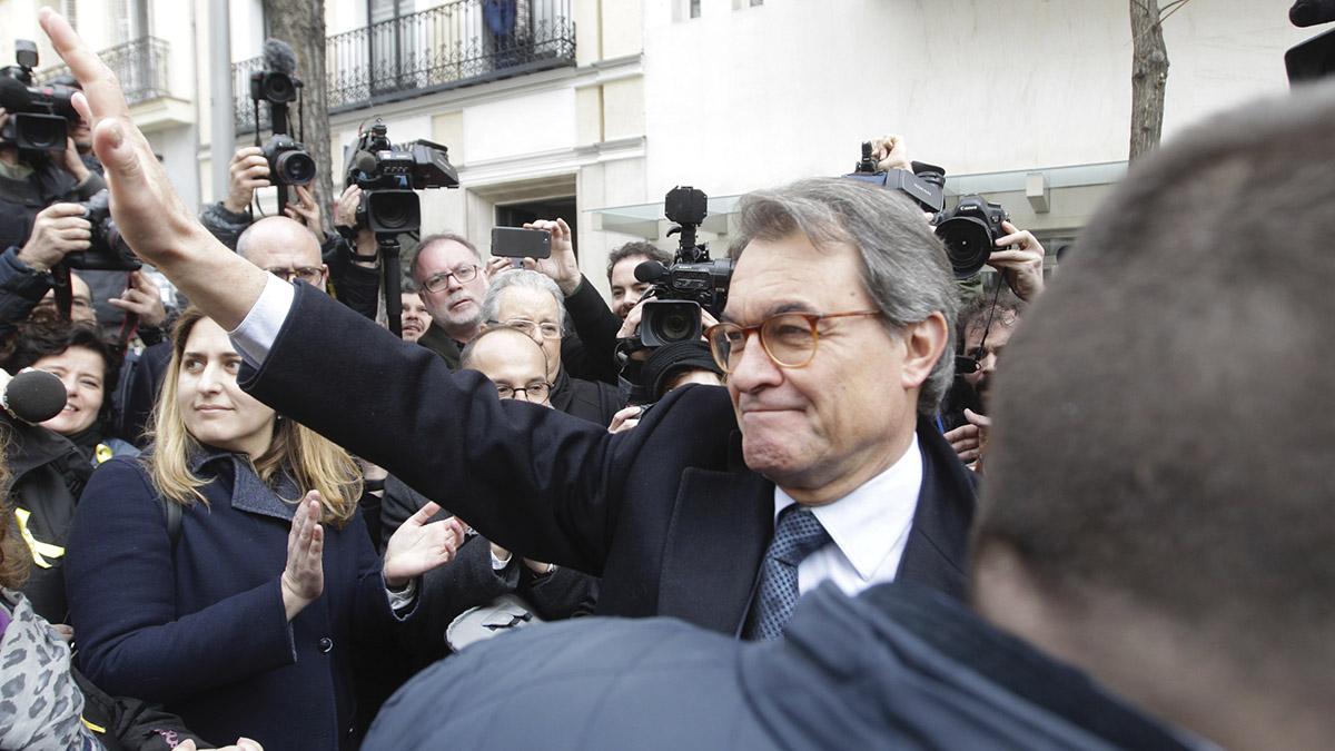 Artur Mas tras declarar en el Tribunal Supremo en una imagen de archivo (Foto: Francisco Toledo).