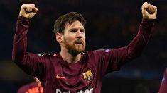 Messi marcó contra el Chelsea. (AFP)