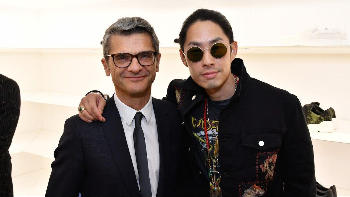 Serge Brunschwig y el cantante Vanness Wu