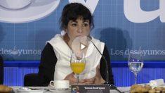 La coordinadora de Podemos-A, Teresa Rodríguez, este martes en Córdoba