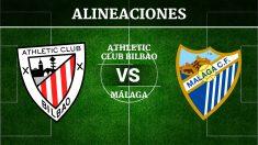 Consulta las posibles alineaciones del Athletic de Bilbao vs Málaga
