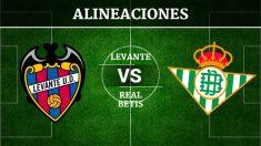 Consulta las posibles alineaciones del Levante vs Betis