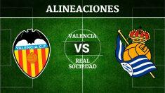 Consulta las posibles alineaciones del Valencia vs Real Sociedad