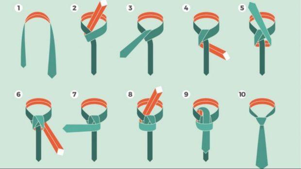 C mo hacer un nudo de corbata de forma f cil paso a paso for Nudo de corbata windsor
