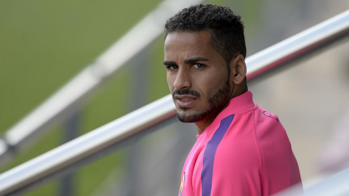 Douglas Pereira, durante su estancia en el Barcelona. (AFP)