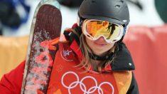 Elizabeth Swaney durante los Juegos Olímpicos de Invierno. (Twitter)
