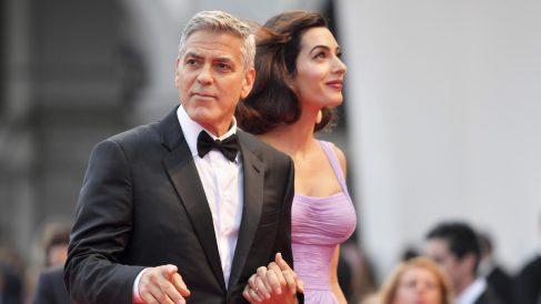 George y Amal Clooney. (Foto: AFP)