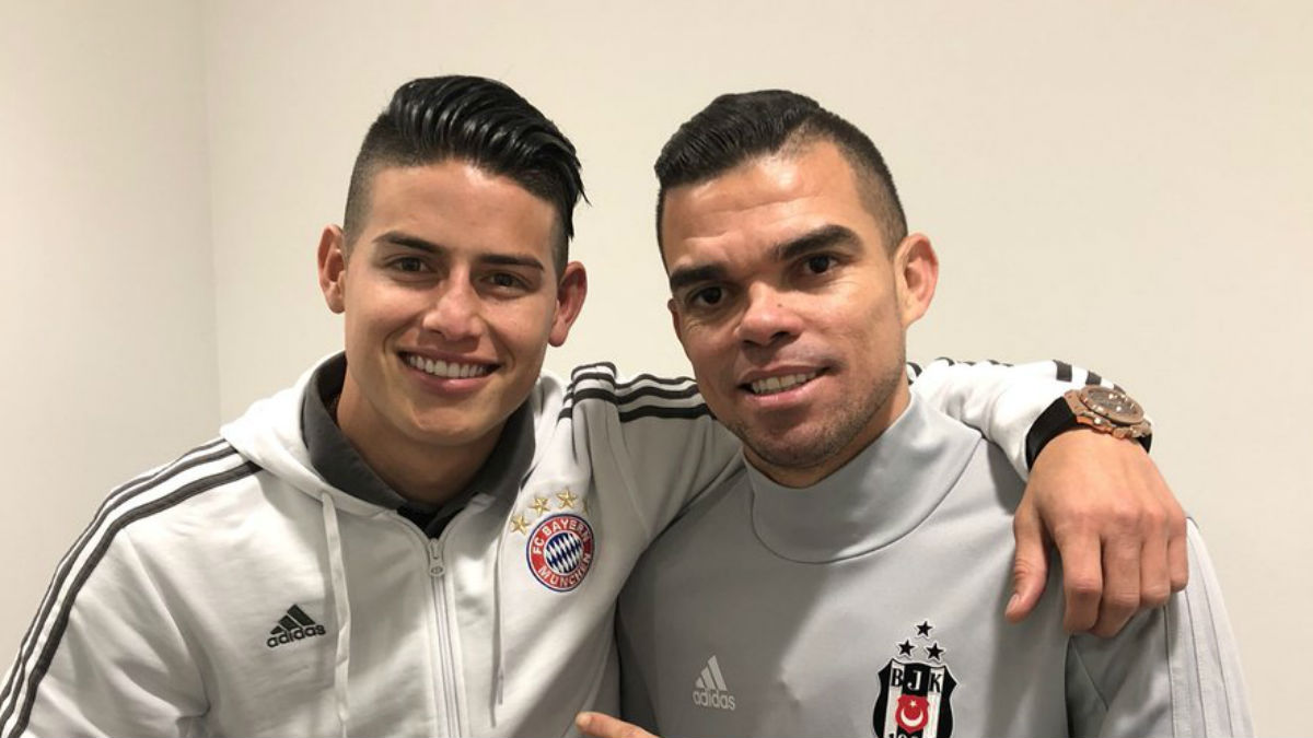 Reencuentro entre Pepe y James (Twitter)