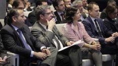 Juan Pablo Lázaro, presidente de CEIM; Álvaro Nadal, ministro de Energía, Turismo y Agenda Digital; y Blanca Montero subdirectora general de Banco Sabadell.
