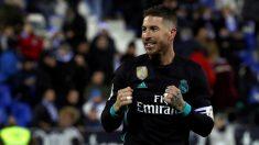Sergio Ramos celebra su gol en el Leganés – Real Madrid. (EFE)