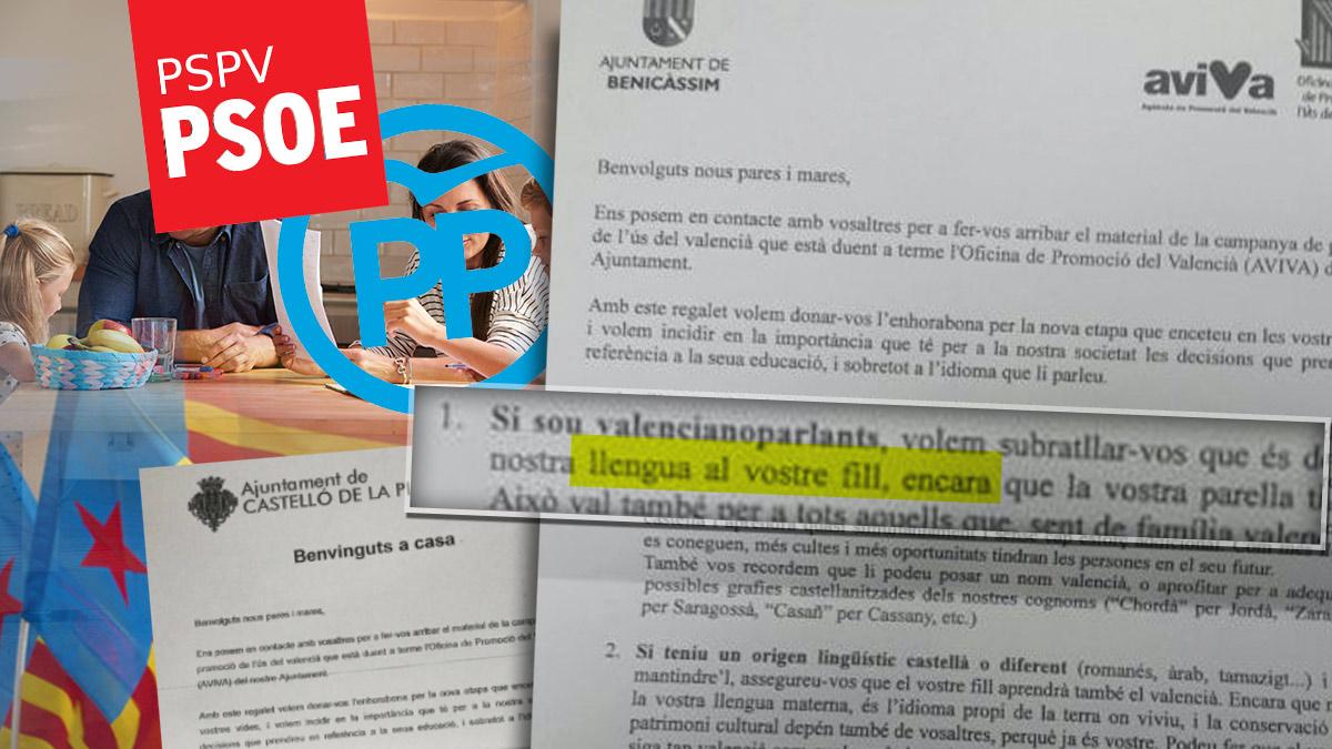 Cartas de PSPV-PSOE y PP para 'valencianizar' a padres e hijos