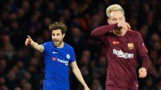 Cesc Fábregas, durante el Chelsea – Barcelona. (AFP)