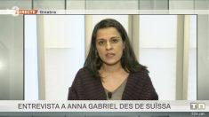 Anna Gabriel en una entrevista concedida a TV3.