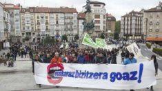 Manifestación por la imposición del euskera en un municipio del País Vasco