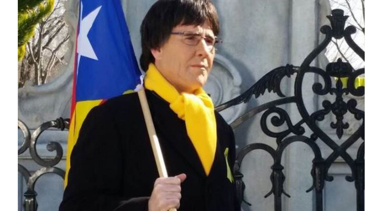 Joaquín Reyes caracterizado como Carles Puigdemont.