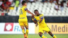 Vinicius celebra su gol ante el Madureira.