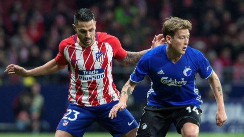 Vitolo durante el Atlético – Copenhague. (EFE)