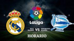 Consulta aquí a qué hora se juega el Real Madrid – Alavés y dónde ver el partido de la Liga Santander.