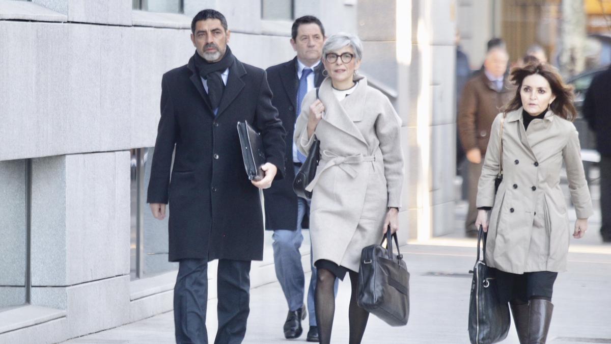 El ex mayor de los Mossos Josep Lluís Trapero a su llegada a la Audiencia Nacional. (Foto: Francisco Toledo)