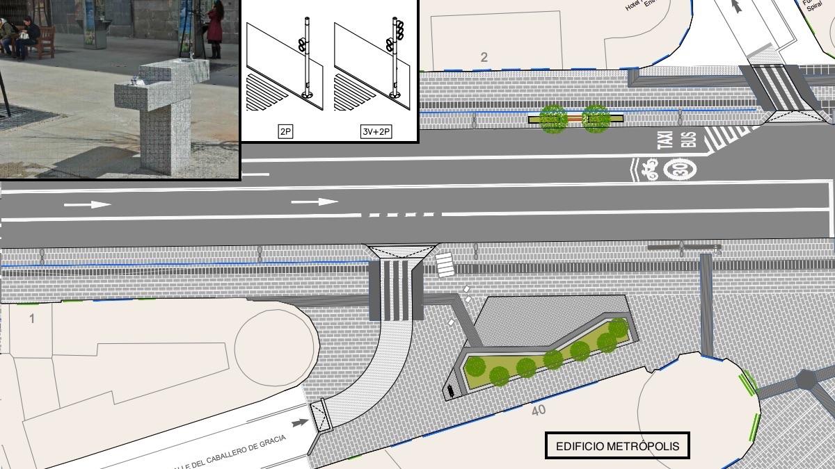 Imágenes del proyecto del Ayuntamiento para la Gran Vía. (Clic para ampliar)