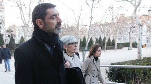 El mayor de los Mossos Josep Lluís Trapero a su llegada a la Audiencia Nacional. (Foto: Francisco Toledo)