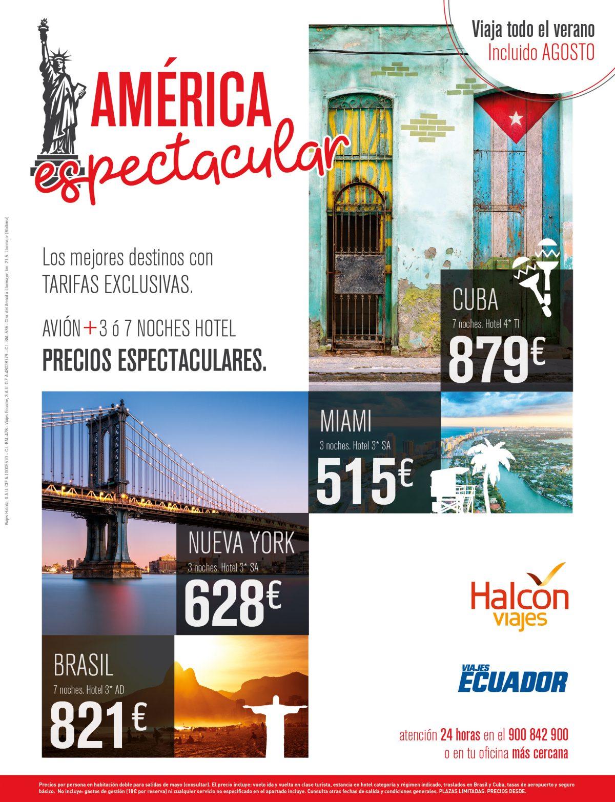 Halc n viajes lanza la campa a espectacular con m s de plazas a precios exclusivos - Oficinas viajes halcon ...