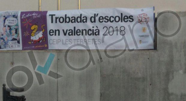 Uno de los colegios públicos en los que se vende material para financiar a Escola Valenciana