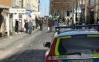 La Policía disuelve una manifestación neonazi no autorizada en Jonkoping, Suecia