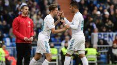 Llorente entró al campo sustituyendo a Casemiro en el minuto 79 de partido. (AFP)