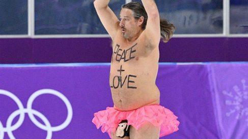 Mark Roberts, en la pista de los Juegos Olímpicos de Invierno.